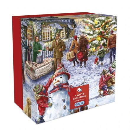 A White Christmas by Marcello Corti 500 Piece Gibsons Jigsaw